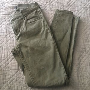 Express Army Green Jeans